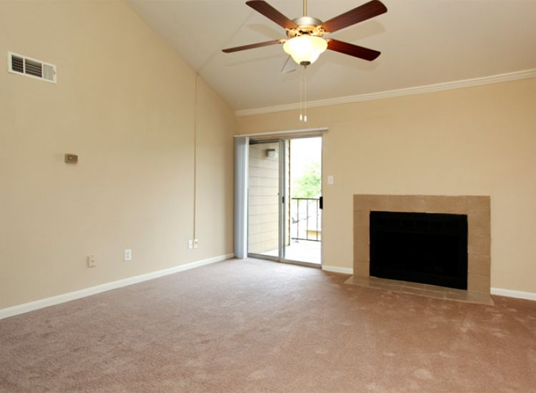 Unit - Living Room and Fireplace